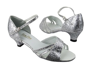 "6030 126 Silver Stardust_Whole Shoes with 1.3"" heel in the photo"