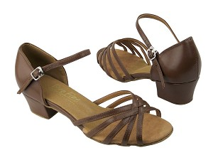 "802 133 Coffee Brown Leather with 1.5"" Medium Medium heel in the photo"