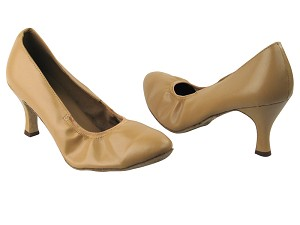"9624 157 Beige Brown Leather with 2.75"" Heel in the photo"