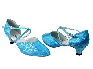 9691 104 Blue Flower Satin