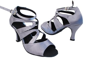 "SERA7039 180 Grey Satin with 2.75"" Heel in the photo"